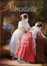 Sonate n° 1 - 2 Flûtes Saverio Mercadante Partition laflutedepan.com
