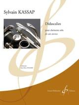 Didascalies - Clarinette solo Sylvain Kassap Partition laflutedepan