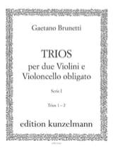 Gaetano Brunetti - Trios Serie 1 n° 1 et 2 - 2 violons et violoncelle - Partition - di-arezzo.fr