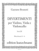 Gaetano Brunetti - Divertimenti n° 4 à 6 - Trio violon, alto et violoncelle - Partition - di-arezzo.fr