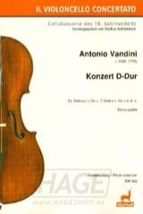 Antonio Vandini - Concerto in D Major - Cello and Piano - Sheet Music - di-arezzo.co.uk