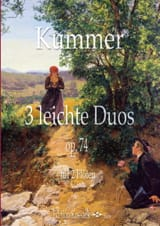 Gaspard Kummer - 3 Leichte Duos, op. 74 - 2 Flûtes - Partition - di-arezzo.fr