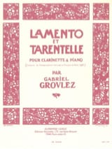 Gabriel Grovlez - Lamento and Tarantella - Sheet Music - di-arezzo.co.uk