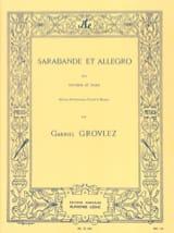 Sarabande et Allegro - Gabriel Grovlez - Partition - laflutedepan.com