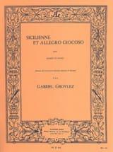 Sicilienne et Allegro giocoso Gabriel Grovlez laflutedepan.com