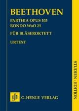Parthia op. 103 - Rondo WoO 25 BEETHOVEN Partition laflutedepan.com
