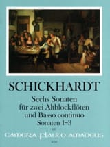 6 Sonaten Vol. 1 - 2 Altblockflöten und BC laflutedepan