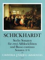 6 Sonaten Vol. 2 - 2 Altblockflöten und BC laflutedepan