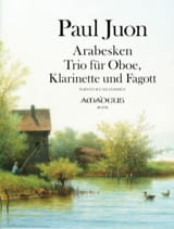 Paul Juon - Arabesques - Oboe, Clarinet and Bassoon Trio - Sheet Music - di-arezzo.co.uk