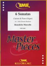 6 Sonatas Benedetto Marcello Partition Clarinette - laflutedepan.com