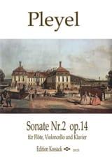 Ignaz Pleyel - Sonate n° 2, op. 14 - Flûte, violoncelle et piano - Partition - di-arezzo.fr