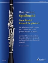Carl Baermann - Spielbuch 1 - Clarinette et piano - Partition - di-arezzo.fr