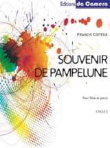 Souvenir de Pampelune Francis Coiteux Partition laflutedepan.com