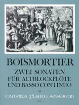 2 Sonatas op. 27 BOISMORTIER Partition Flûte à bec - laflutedepan.com
