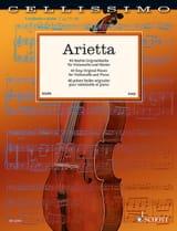 Arietta - Violoncelle et piano Partition laflutedepan.com
