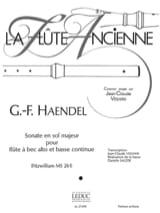 Sonate en sol majeur – flûte à bec alto laflutedepan.com