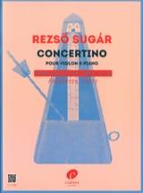 Concertino - Alto et piano Reszö Sugar Partition laflutedepan.com