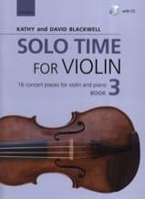 Solo Time for Violon 3 - Violon et piano - laflutedepan.com
