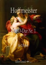 Franz Anton Hoffmeister - Duo op. 20 n° 1 - 2 Flûtes - Partition - di-arezzo.fr