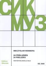 24 Préludes Mieczyslaw Weinberg Partition laflutedepan.com
