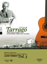 Oeuvres pour guitare vol. 3 Graciano Tarrago Partition laflutedepan