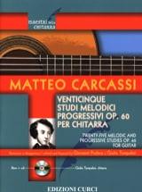 Matteo Carcassi - 25 Etudes Mélodiques, op. 60 - Guitare - Partition - di-arezzo.fr