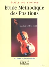 Maurice Hauchard - Etude des Positions Volume 2 - Partition - di-arezzo.fr
