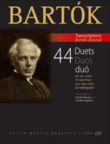 Béla Bartok - 44 Duos - 2 Altos - Partition - di-arezzo.fr