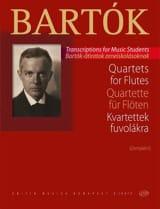 Quatuors - 4 Flûtes BARTOK Partition laflutedepan.com