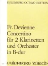 Konzert für 2 Klarinetten DEVIENNE Partition laflutedepan