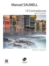 19 Contradanzas - 2 Guitares Manuel Saumell Partition laflutedepan.com