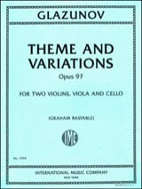 Alexandre Glazounov - Theme and Variations, op. 97 - String Quartet - Sheet Music - di-arezzo.co.uk