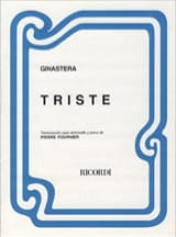 Triste - Alberto Ginastera - Partition - laflutedepan.com