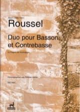 Duo (pour Basson et Contrebasse ROUSSEL Partition Duos - laflutedepan