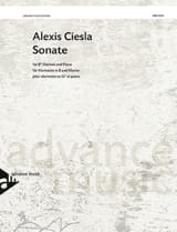 Alexis Ciesla - Sonata - Clarinet and piano - Sheet Music - di-arezzo.co.uk