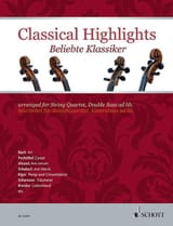 Classical Highlights - Quatuor à cordes Partition laflutedepan.com