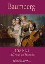J. C. Baumberg - Trio N ° 1 - 2 Flutes and cello - Sheet Music - di-arezzo.com