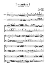 BACH - 4 Inventions et une Cantate - 2 Bassons - Partition - di-arezzo.fr