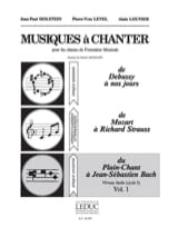 Holstein Jean-Paul / Level Pierre-Yves / Louvier Alain - Musics to sing - Volume 1 - Sheet Music - di-arezzo.com