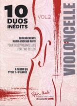 10 Duos Inédits vol. 2 - 2 Violoncelles - laflutedepan.com
