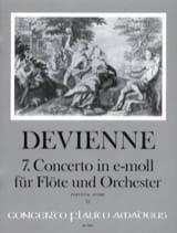 7. concerto in e-moll DEVIENNE Partition Grand format - laflutedepan