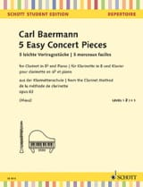 Carl Baermann - 5 Morceaux Faciles, opus 63 de la méthode de clarinette opus 63 - Partition - di-arezzo.fr