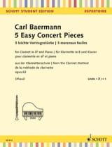 5 Morceaux Faciles, opus 63 (de la méthode de clarinette opus 63) - laflutedepan.com