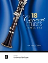 James Rae - 18 Etudes de Concert - Partition - di-arezzo.fr