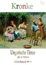 Ungarische Tänze Opus 104 Emil Kronke Partition laflutedepan.com