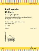 Colibris - Flûte et Piano Emil Kronke Partition laflutedepan.com