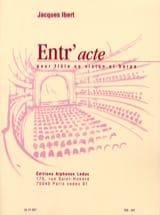 Jacques Ibert - Entr'acte - Flûte harpe - Partition - di-arezzo.fr