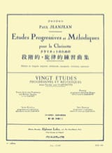 Paul Jeanjean - 20 Progressive Studies Volume 1 - Sheet Music - di-arezzo.co.uk