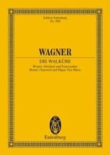 Richard Wagner - Watans Abschied und Feuerzauber (WWV 86B) - Partition - di-arezzo.fr