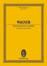 Richard Wagner - Wesendonck-Lieder Wwv 91 - Poche - Partition - di-arezzo.fr